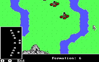 The Ancient Art of War DOS View Formation - Custer's Last Stand (EGA/Tandy)