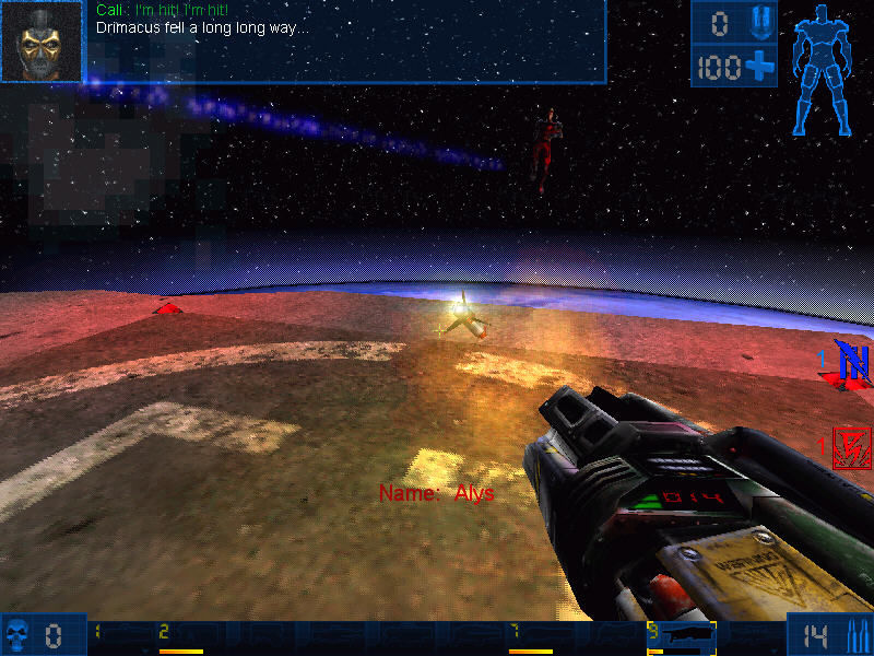 Unreal Tournament Windows Flying rocket