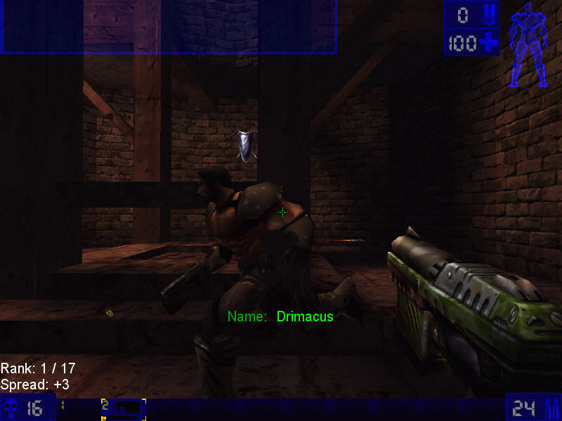 Unreal Tournament Windows Die now! <minigun's sound>.  Hahaha!