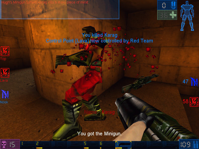 Unreal Tournament Windows Another enemy to kill. I must go to control point...