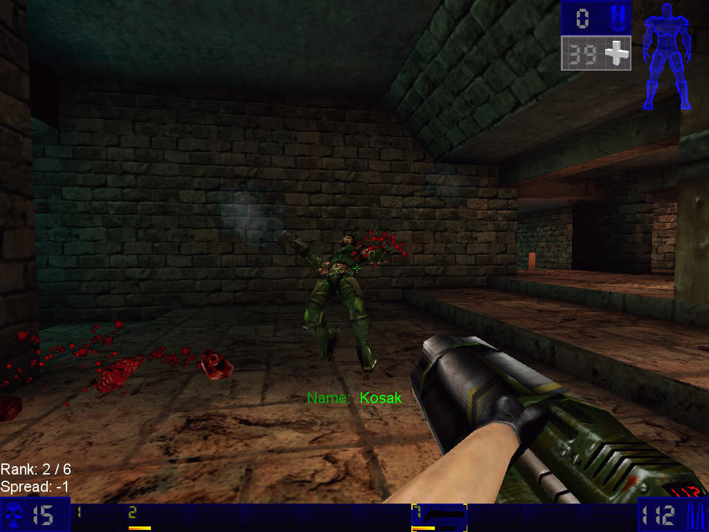 Unreal Tournament Windows Blood shot in arm