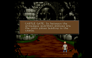 Lure of the Temptress Amiga At the castle gates