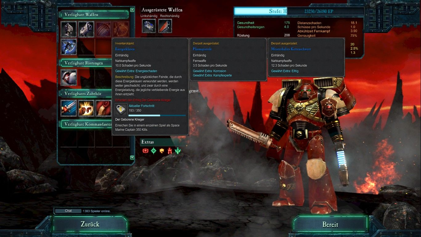 Warhammer 40,000: Dawn of War II - Retribution Windows Space Marine Captain setup for the Last Stand