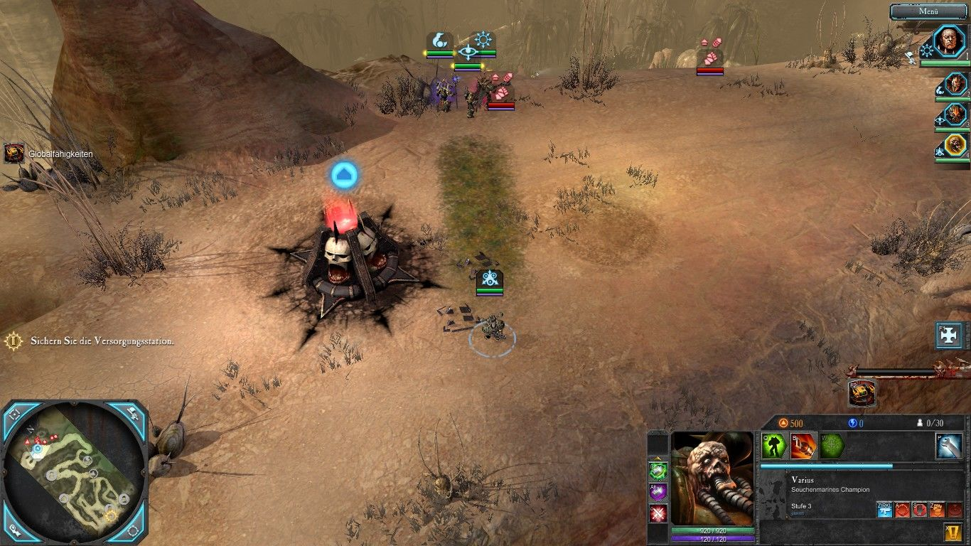Warhammer 40,000: Dawn of War II - Retribution Windows The plague marine is easy to find: Just follow the trail of decay.