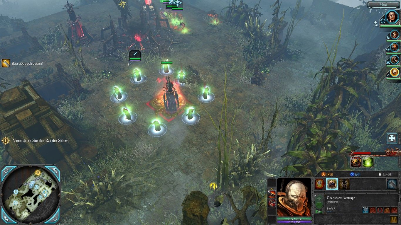 Warhammer 40,000: Dawn of War II - Retribution Windows Special feature of the chaos: Construct a shrine and let some cultist worship it for blessings.
