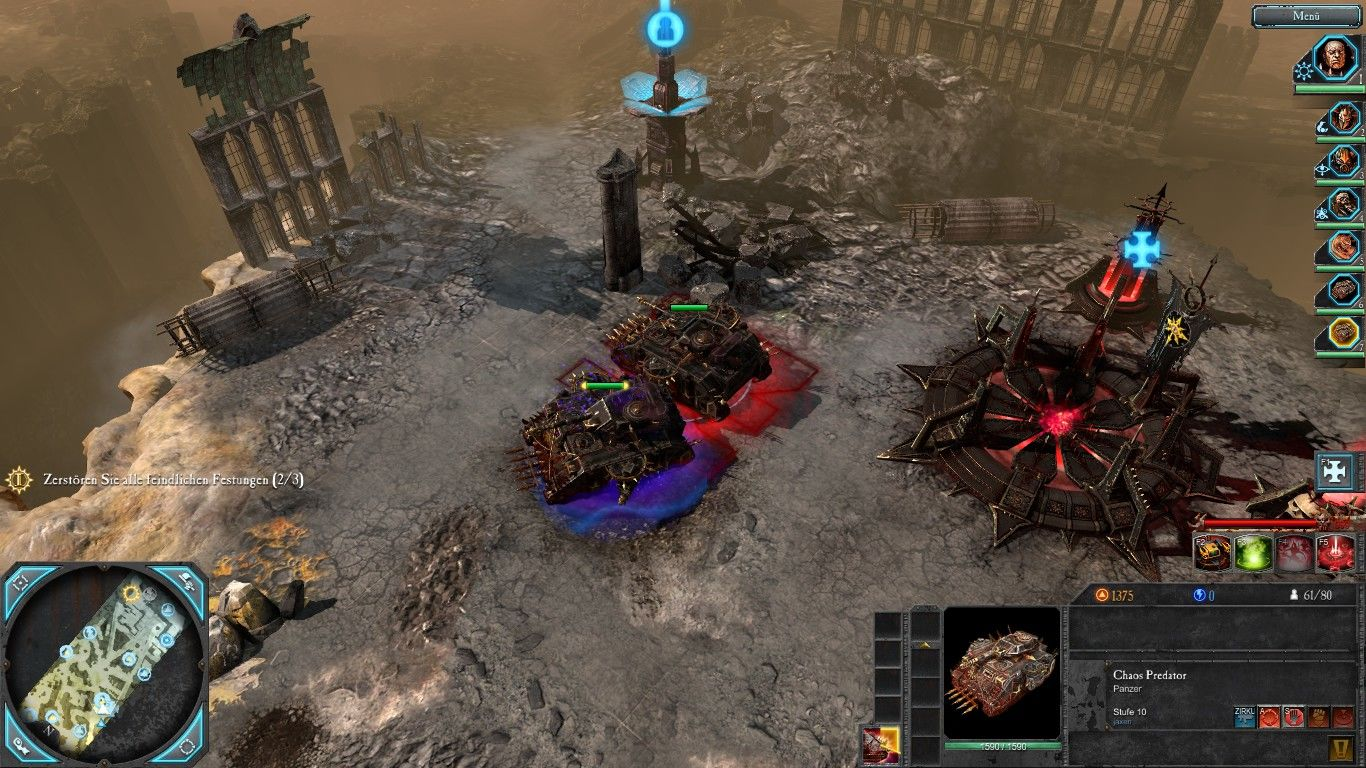 Warhammer 40,000: Dawn of War II - Retribution Windows Chaos Predators - the armoured fist of the Chaos - receives blessings from the dark gods. Blue = Slaanesh, red = Khorne