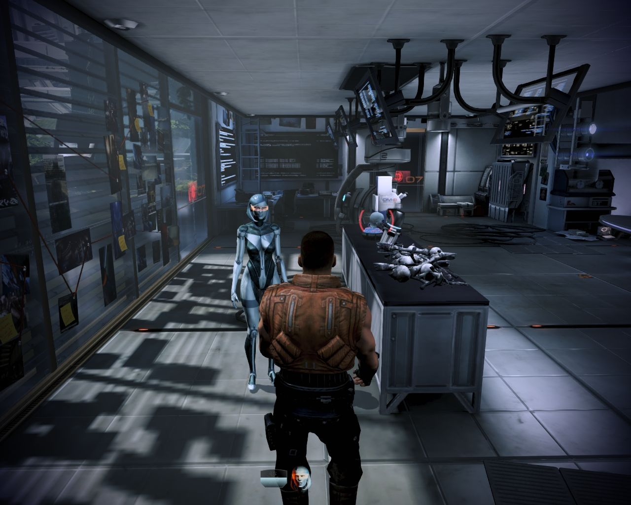 Mass Effect 3: Leviathan Windows EDI comes along on this mission.