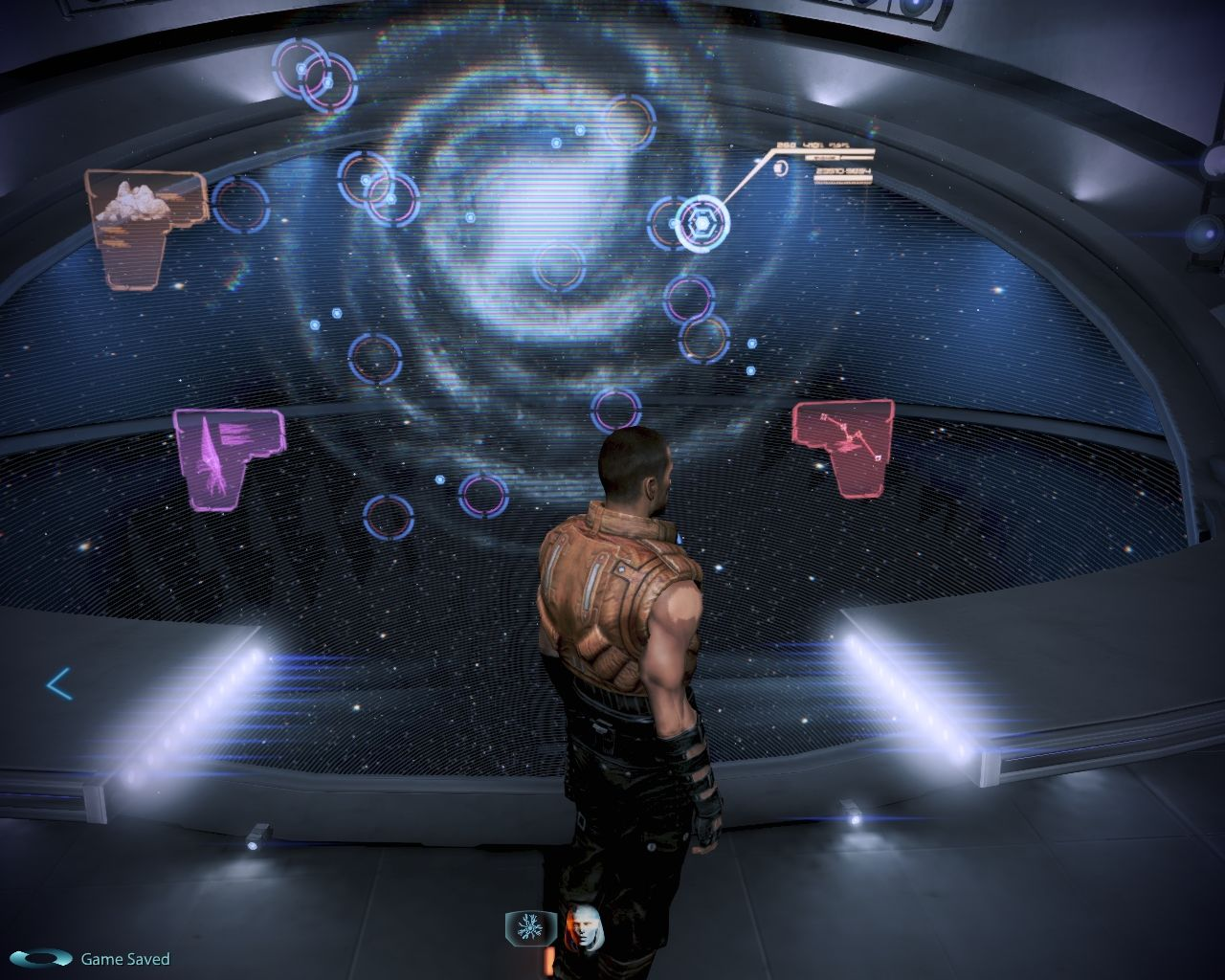 Mass Effect 3: Leviathan Windows Clues to the whereabouts of our next contact have been found an plotted on the lab's star map.