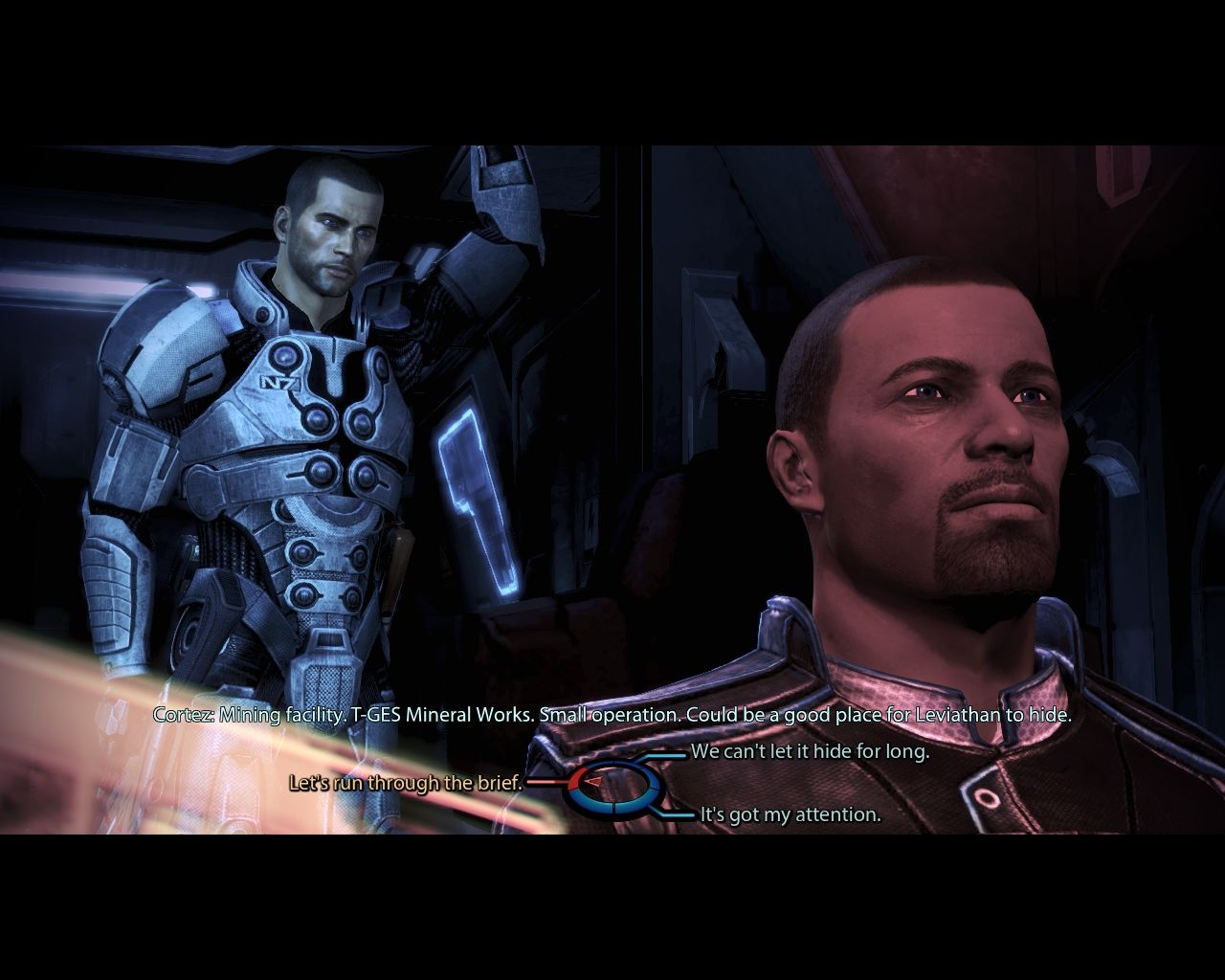 Mass Effect 3: Leviathan Windows We're going to a mining facility next.