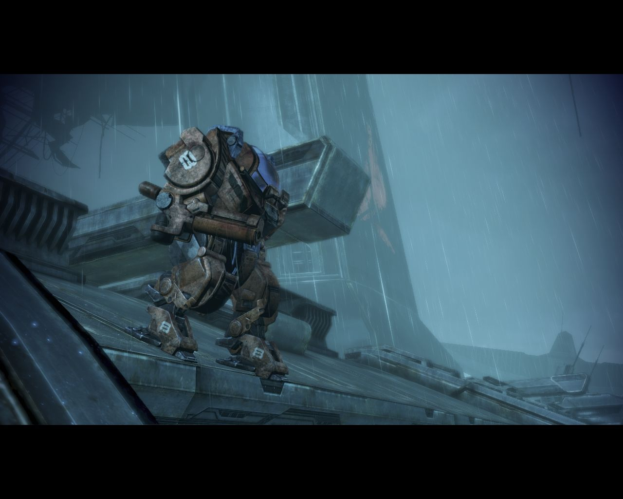 Mass Effect 3: Leviathan Windows Cut scene of the mech's first stride, with Shepard inside it.