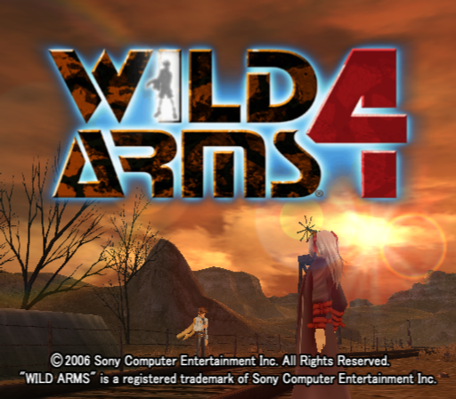 Wild Arms 4 PlayStation 2 Title screen.