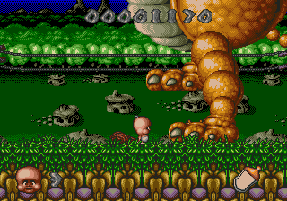 [7 Jogos Indispensáveis] - SEGA CD 60414-chuck-rock-ii-son-of-chuck-sega-cd-screenshot-giant-walking
