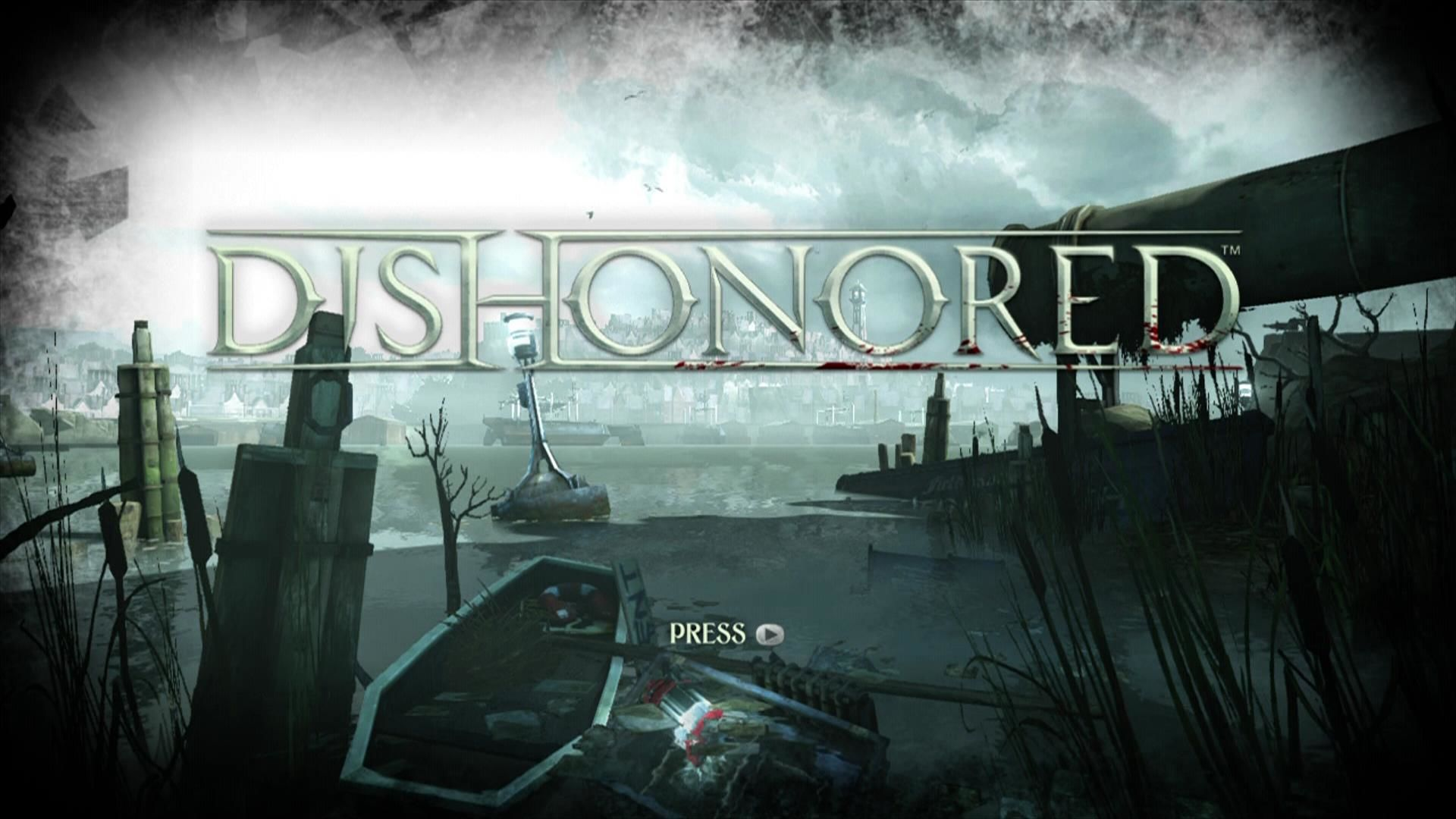 Dishonored Xbox 360 Title screen