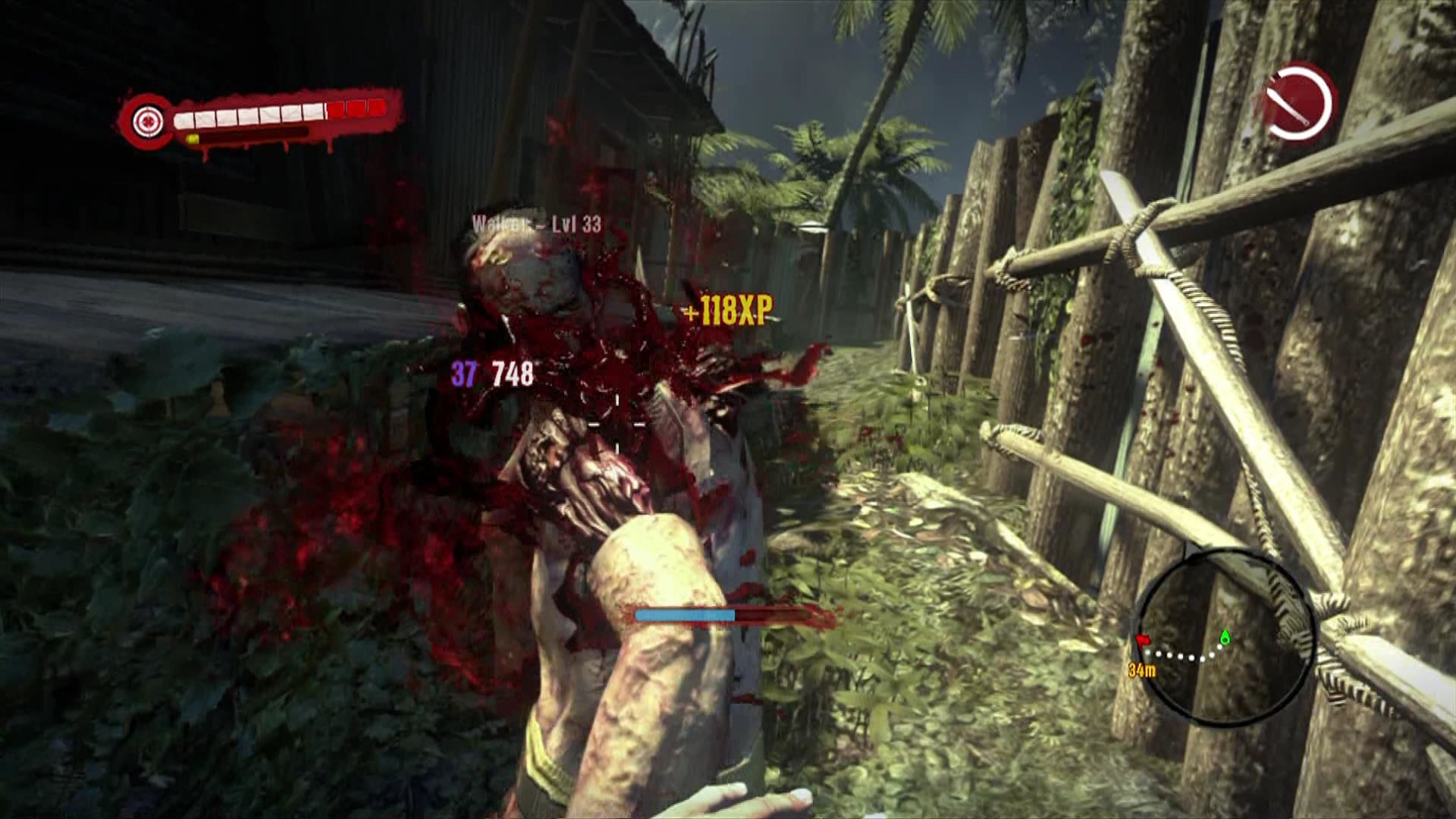 Dead Island Xbox 360 Fighting is seriously gory and brutal, not for the faint hearted!
