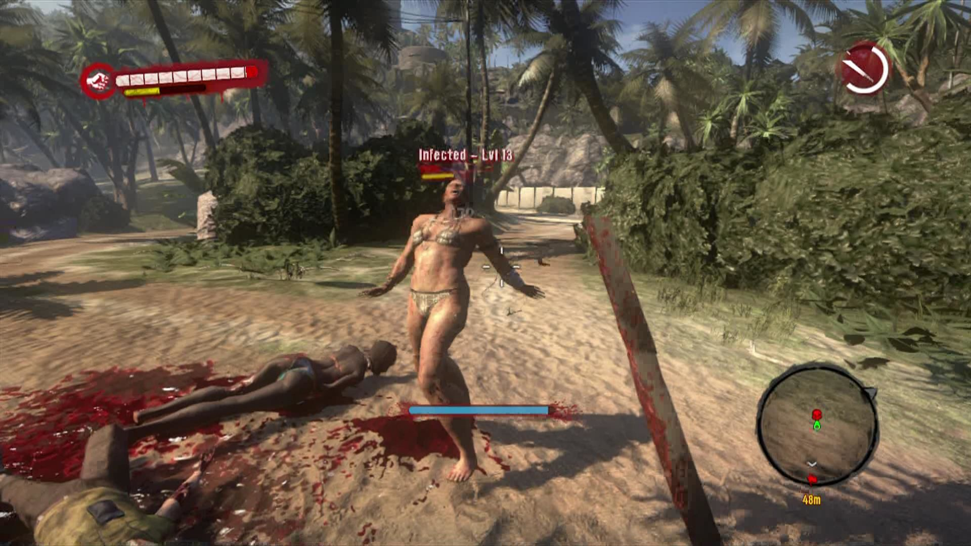 Dead Island Xbox 360 Don't get fooled by zombies in bikinis, they will attack.
