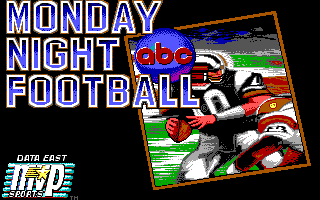 ABC Monday Night Football DOS Title screen (EGA/Tandy)