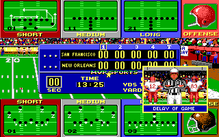 ABC Monday Night Football DOS Delay of game (EGA/Tandy)
