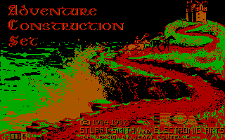 Stuart Smith's Adventure Construction Set DOS Main Title Screen (CGA)