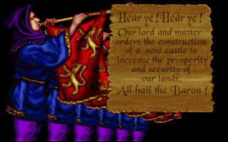 Lords of the Realm Amiga Intro: It's castle building time! (256 Color AGA Version)
