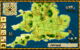 Lords of the Realm Amiga The main map of England