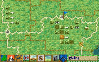 Lords of the Realm Amiga Zoomed up map.