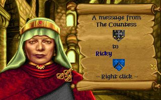Lords of the Realm Amiga A message from the Countess.