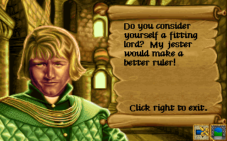 Lords of the Realm Amiga Getting insulted.