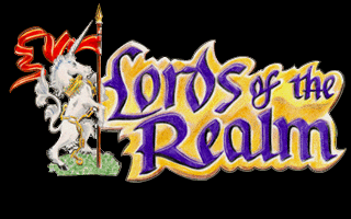 Lords of the Realm Amiga Title screen.