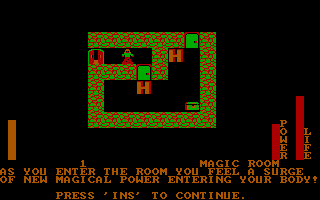"Stuart Smith's Adventure Construction Set DOS Magic Room / ""Land of Adventuria"" (CGA)"