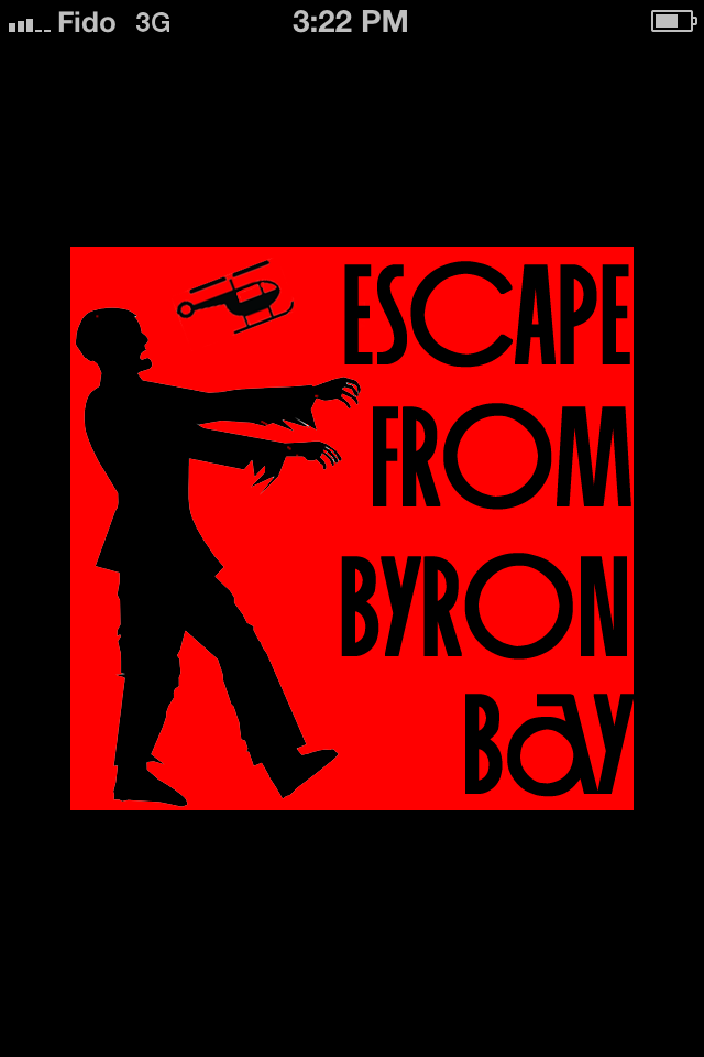 Escape from Byron Bay iPhone Title screen