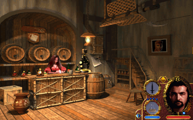 Lands of Lore: Guardians of Destiny DOS ...while the rest reverts to the adventure-like format. This shop is an exquisitely decorated pre-rendered image