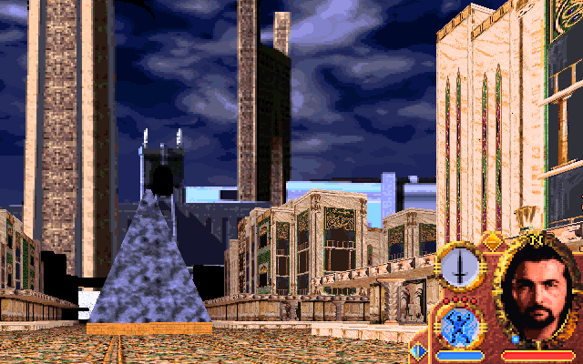 Lands of Lore: Guardians of Destiny DOS You can now explore the large, mysterious abandoned city on foot