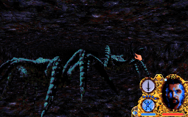 Lands of Lore: Guardians of Destiny DOS You got poisoned in those dark caves, and attacked by two giant spiders. Maybe you should have just stayed at home
