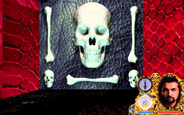 Lands of Lore: Guardians of Destiny DOS I think Belial should work on his social skills. Removing scary skulls from the entrance to his chamber would be a good start