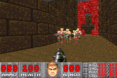 DOOM Game Boy Advance Small group enemies - II episode, Inferno difficulty.
