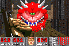 DOOM Game Boy Advance Classic doom monster - one eye, big smile...