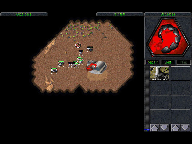 Command & Conquer (Special Gold Edition) Windows NOD begins mission, base is building.
