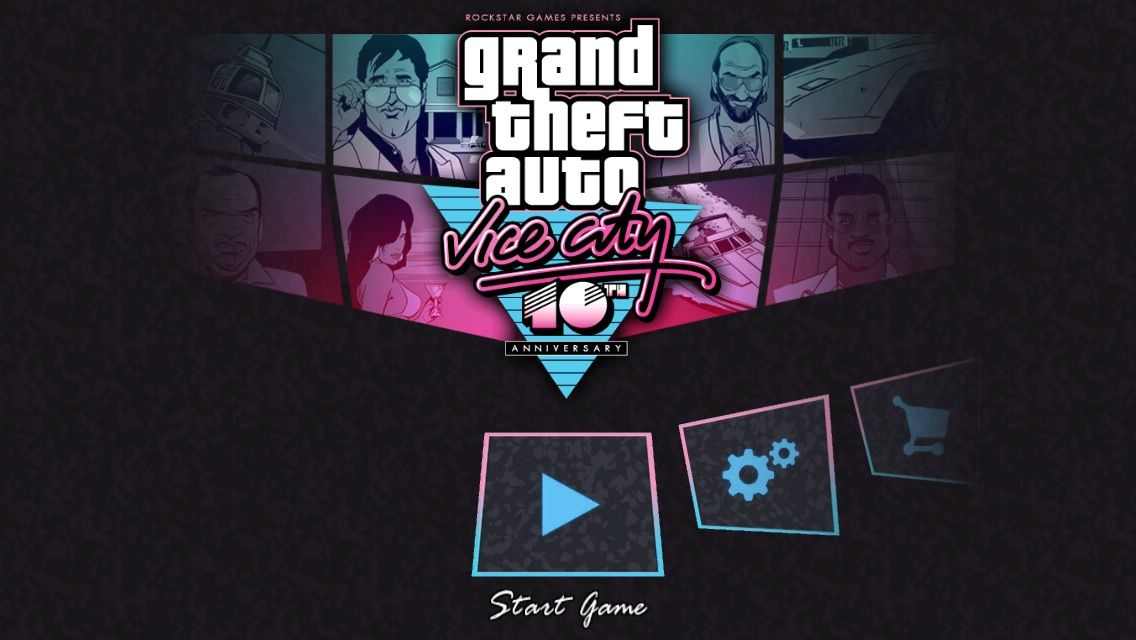 Grand Theft Auto: Vice City iPhone Main Menu