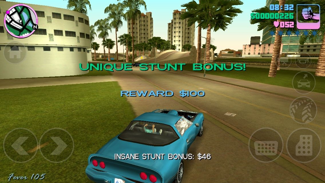 Grand Theft Auto: Vice City iPhone Unique stunt in a 1980 Camaro