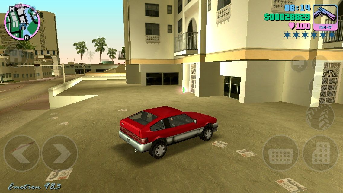 Grand Theft Auto: Vice City iPhone Driving a 1984 Honda CRX