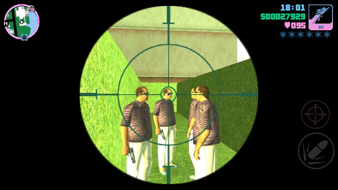 Grand Theft Auto: Vice City iPhone Sniper rifle gang members
