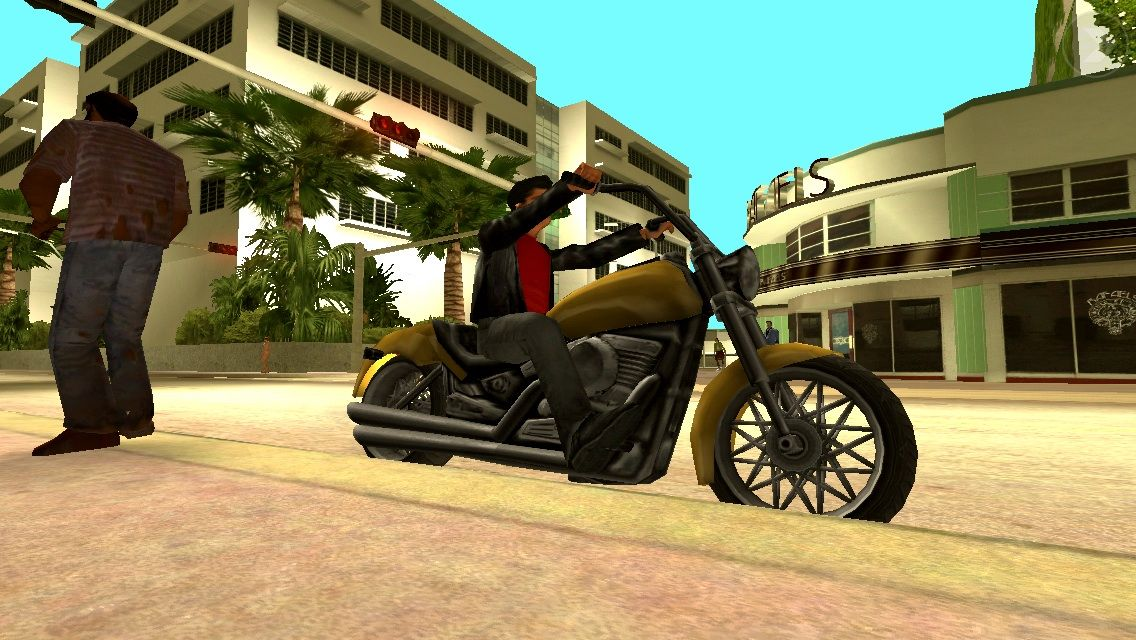 Grand Theft Auto: Vice City iPhone Nice classic Harley Davidson to steal