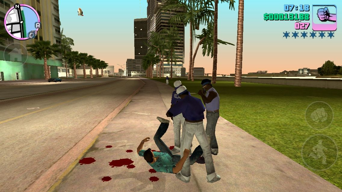 Grand Theft Auto: Vice City iPhone Fighting Gangs hand-to-hand Combat