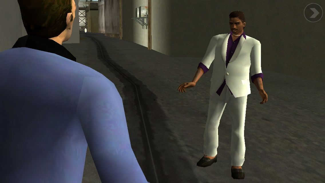 Grand Theft Auto: Vice City iPhone Meeting lance in a cutscene