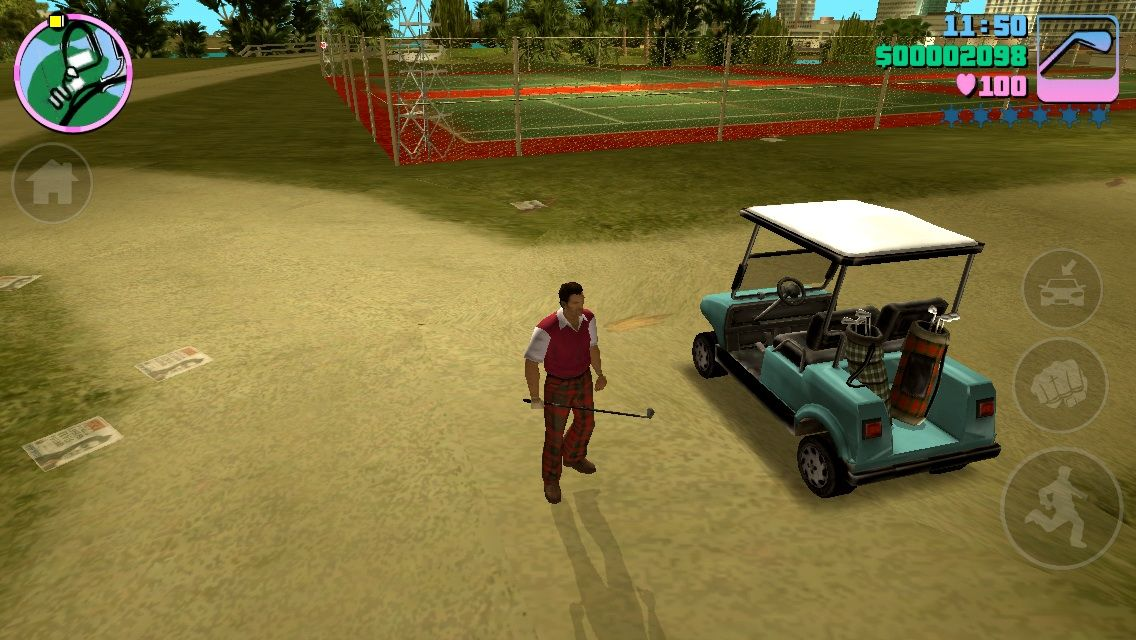 Grand Theft Auto: Vice City iPhone Ready to fight at the Country Club