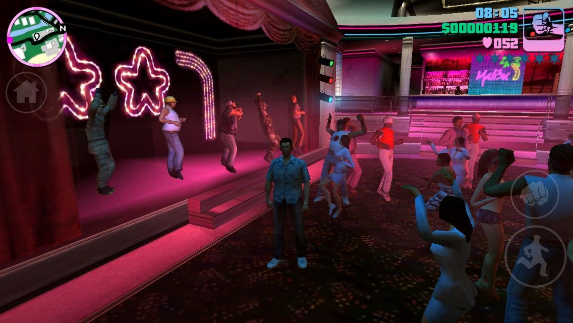 Grand Theft Auto: Vice City iPhone Visiting the Malibu Club