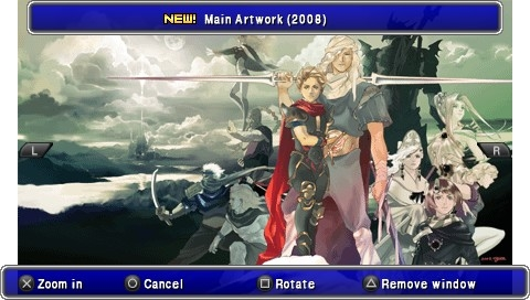 Final Fantasy IV: The Complete Collection PSP Artwork (this shot refers to The After Years)