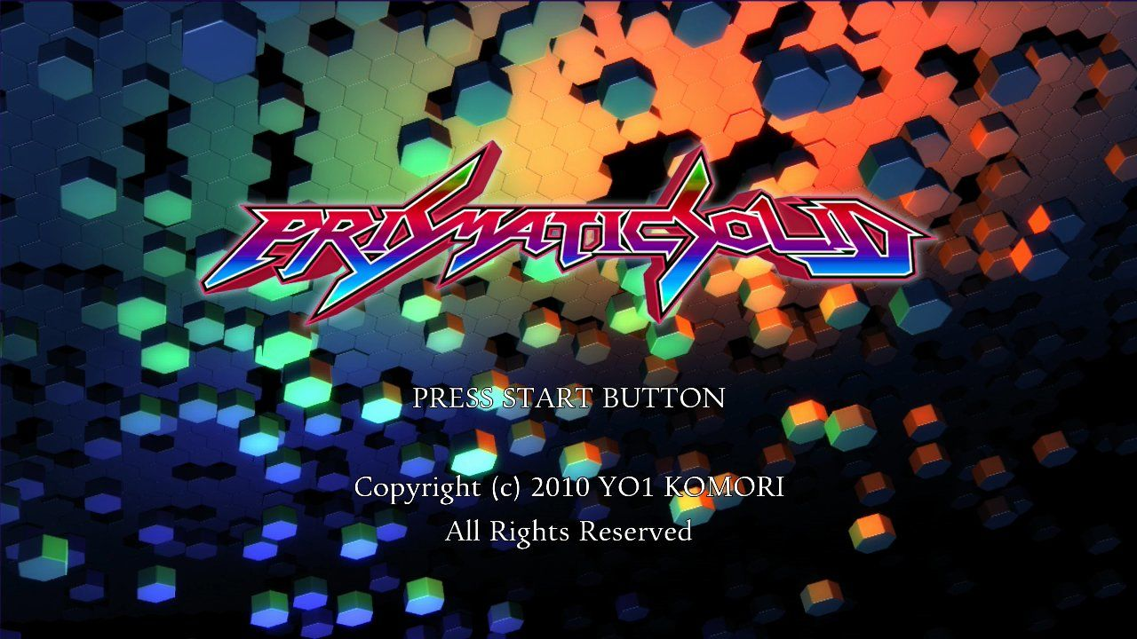 Prismatic Solid Xbox 360 A very stylish animated title screen!