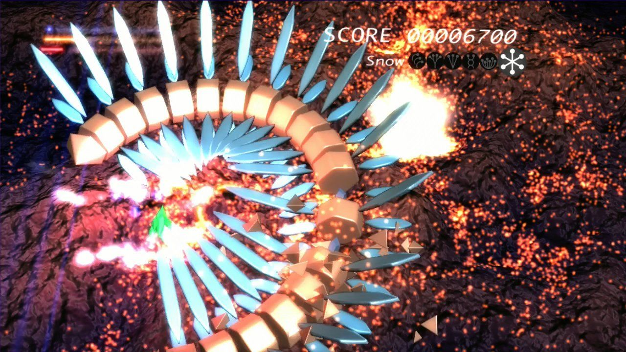 Prismatic Solid Xbox 360 Boss of the first stage.