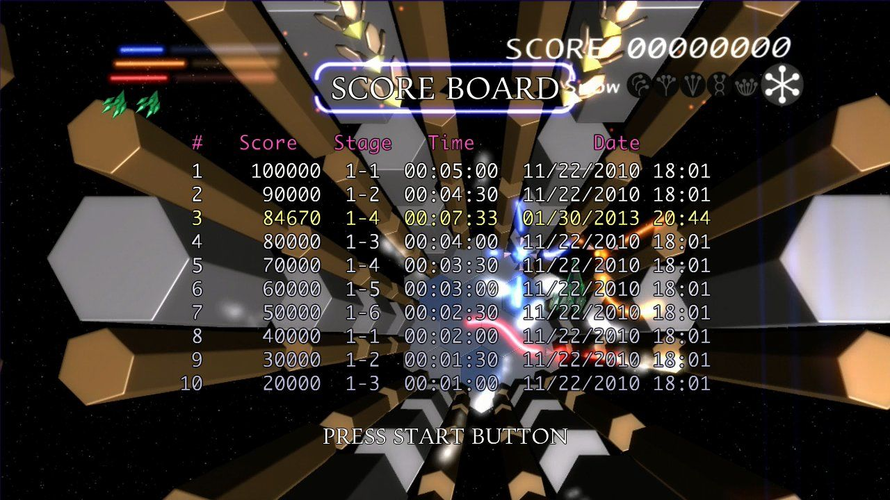 Prismatic Solid Xbox 360 High score list.